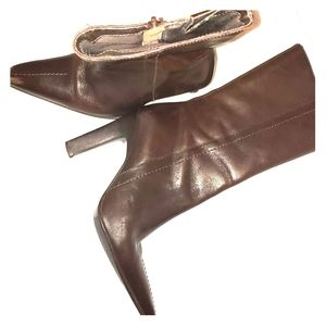 Brazil Shoes - Brown Genuine Leather Boots Size 6